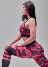MANSEN Леггинсы Pink Military Stripes