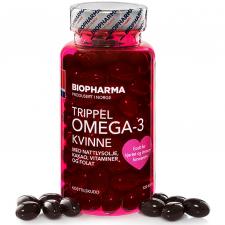 Biopharma Trippel Omega-3 Kvinne 120 кап