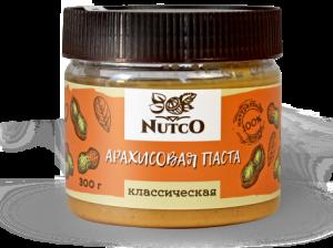 NUTCO Классическая арахисовая паста 300 гр