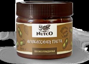 NUTCO Шоколадная арахисовая паста 300 гр