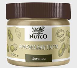 NUTCO Арахисовая паста фитнес 300 гр
