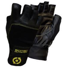 Scitec Nutrition Перчатки Yellow Leather Style (фиксатор)