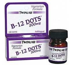 Twinlab B-12 Dots 500 мг 100 таб