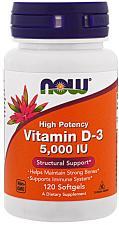 NOW Vitamin D-3 5000 IU 120 кап